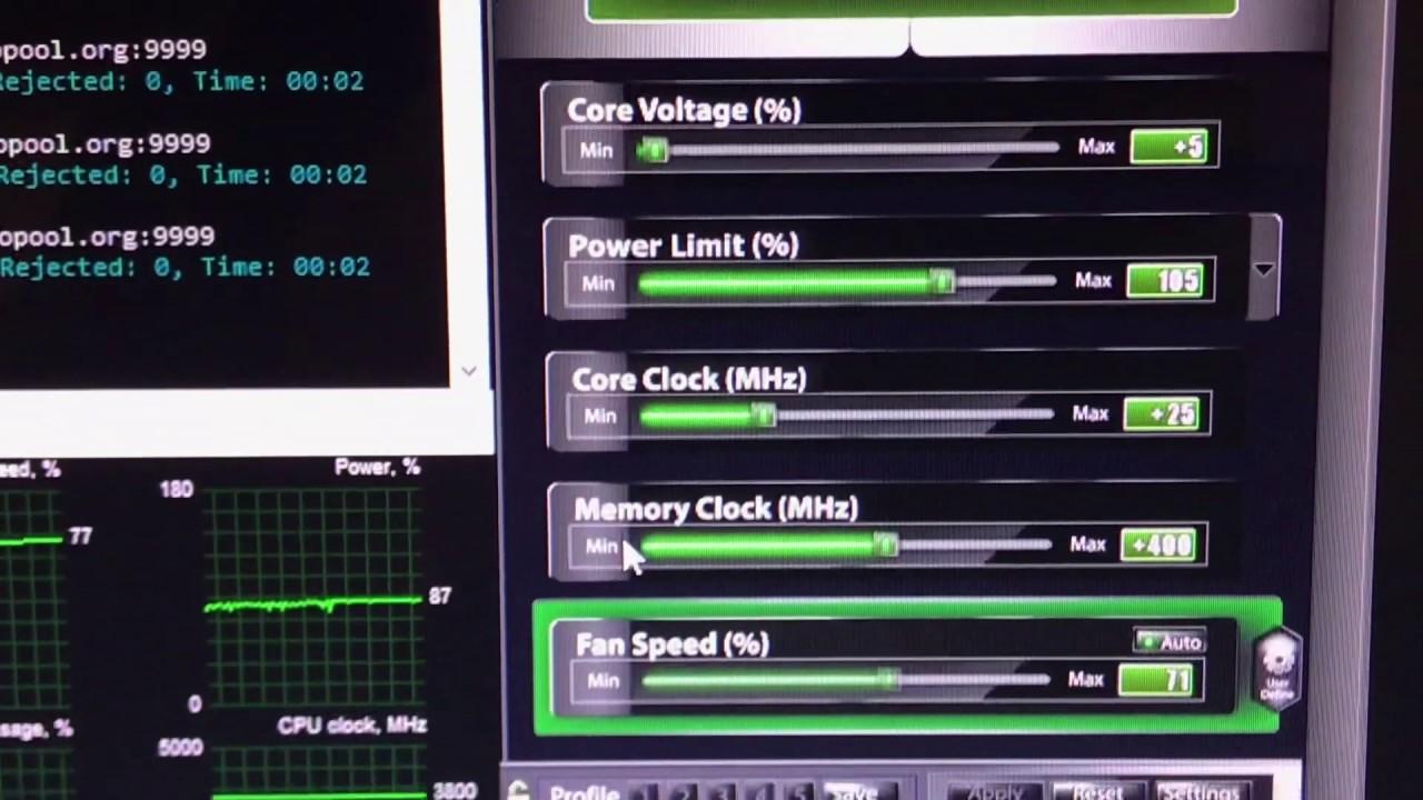 Mining ETH - 51Mh/s - AORUS GeForce GTX 1080 Ti Xtreme Edition 11G