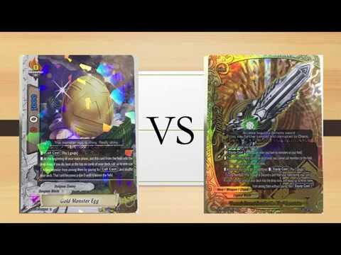 Buddyfight- Dungeon (Monster egg) VS Legend (Hero weapon)