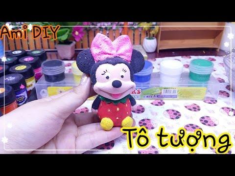 Đồ chơi trẻ em: tô tượng chuột Minnie Mouse / Ami channel