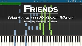 Marshmello & Anne-Marie - FRIENDS (Piano Cover) by LittleTranscriber