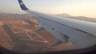 Landing at Heraklion Boeing 737-800 de Travel service