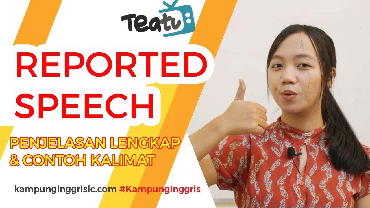 Reported Speech Penjelasan Dan Contoh Kalimat Teatu With Miss Vika Kampung Inggris Lc Youtube