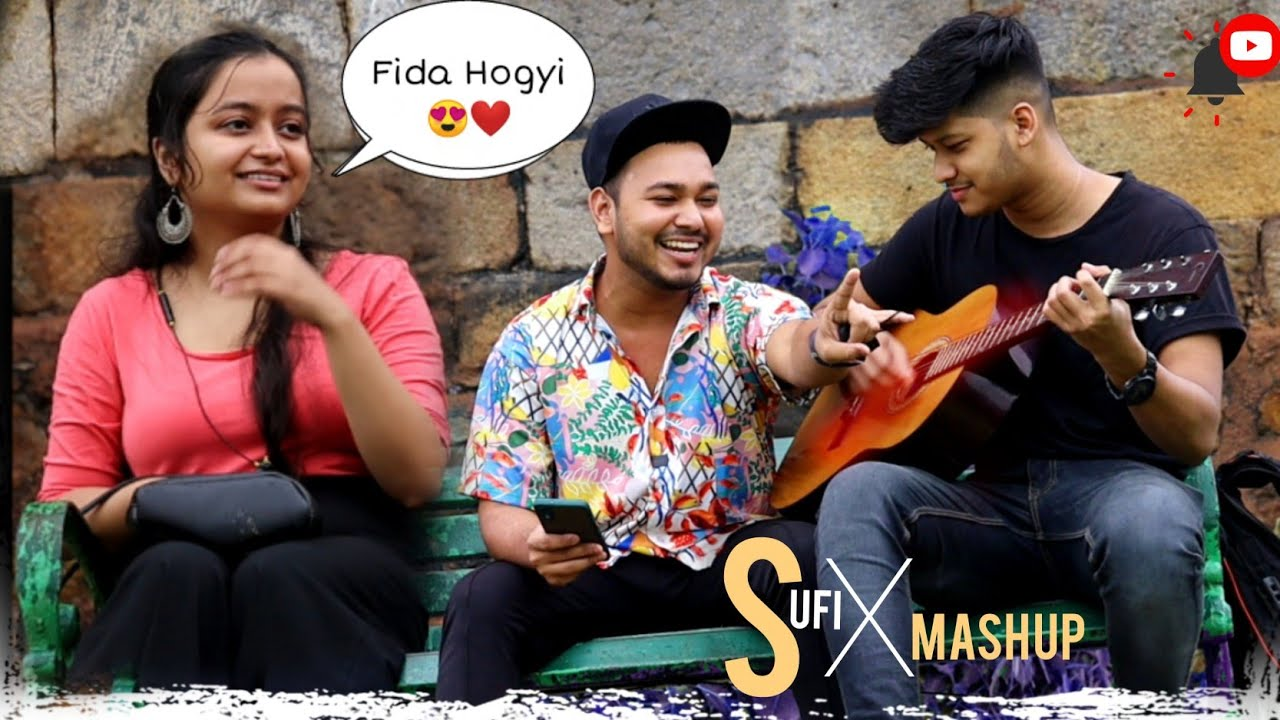 Bollywood Sufi Mashup   Singing Reaction Video   Randomly Singing   Kardiya Prank   2021
