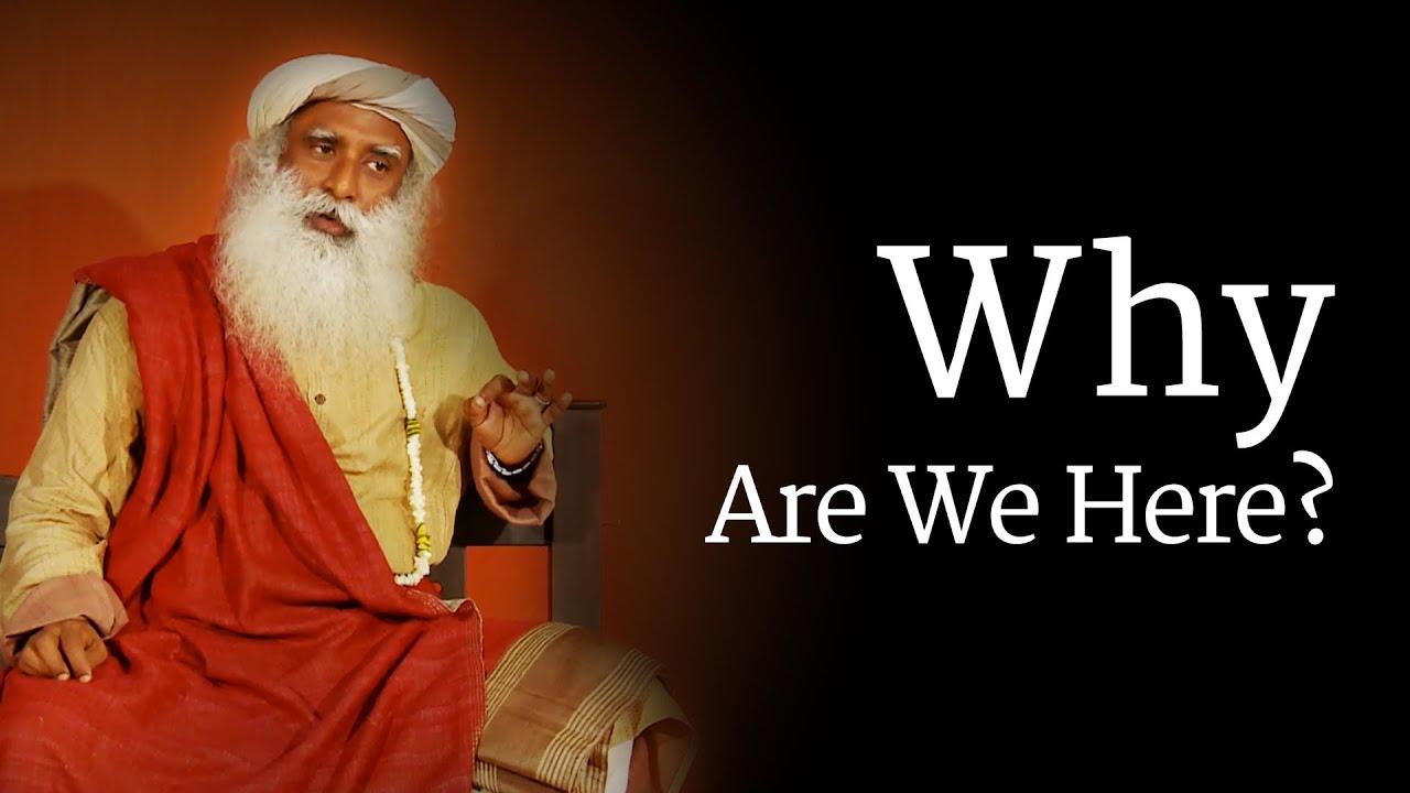 Why Are We Here? Sadhguru - YouTube