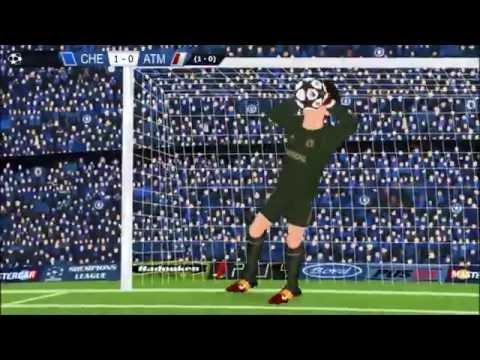 Chelsea 1 Atlético Madrid 3 Champions League (Parodia)