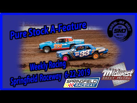 S03-E312 Pure Stock A-Feature - Springfield Raceway 6-22-2019 #DirtTrackRacing