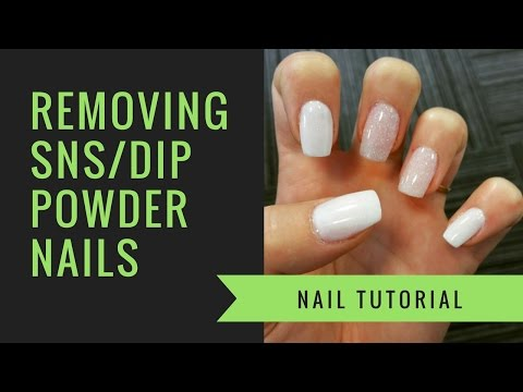 SNS or Dip Powder Removal At Home Nails
