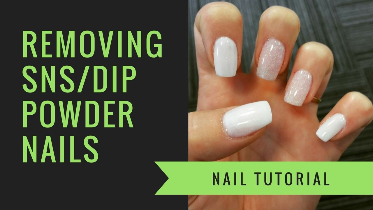 SNS or Dip Powder Removal | At Home Nails | jiannajay - YouTube