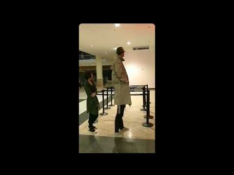 """two kids dressed as a tall man to get into """"black panther"""" FULL VIDEO"""