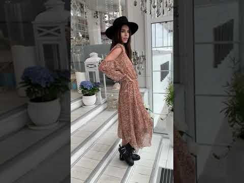 Шифоновое платье на подкладке