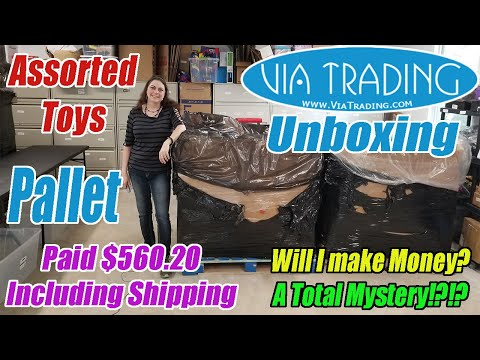 Via Trading Assorted Toys Pallet Unboxing