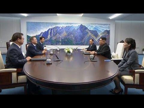 南北首脳が会談 板門店で始まる