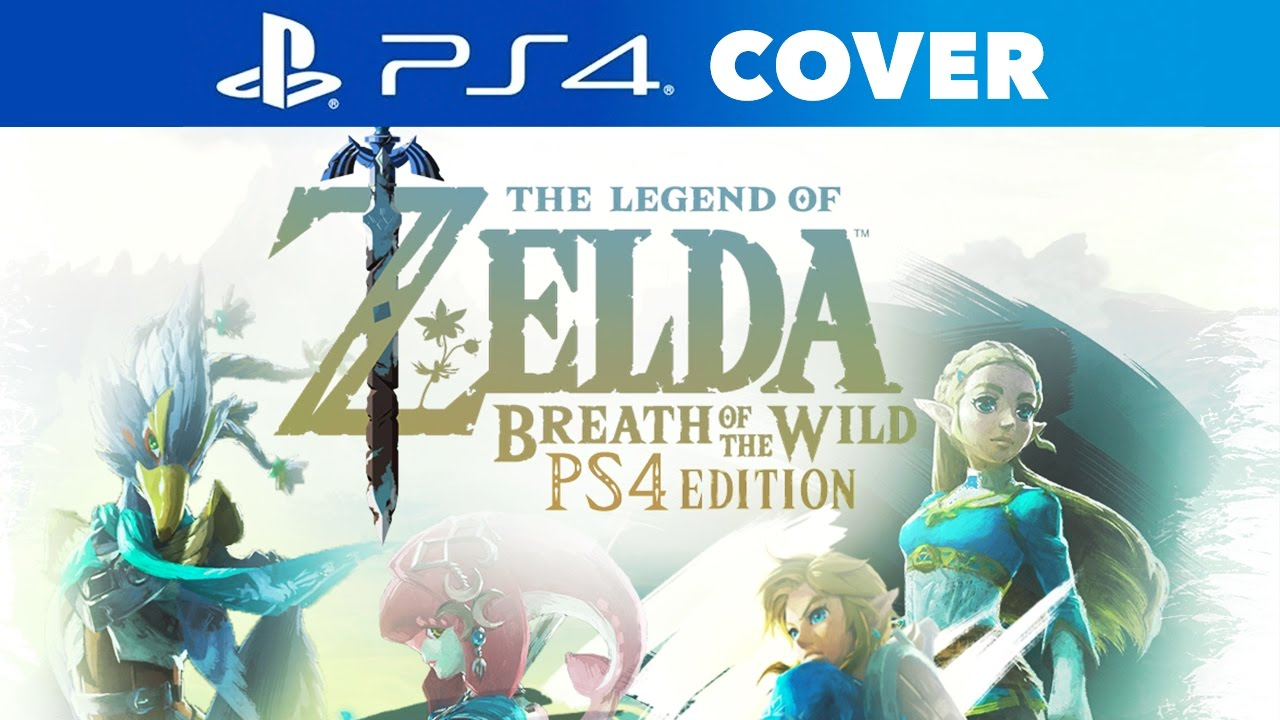 Zelda Breath Of The Wild Ps4 Edition Speed Art Cover Youtube