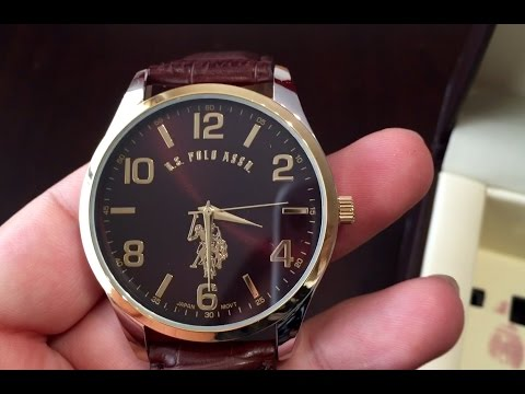 U.S. Polo Assn. Classic Men's USC50225 Gold And Silver Watch With Brown Strap