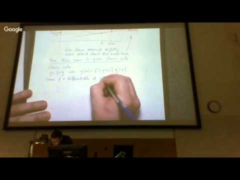 Derivative properties: the chain rule