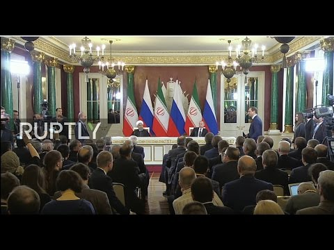 LIVE: Joint press statement by Putin and Rouhani after meeting in Moscow