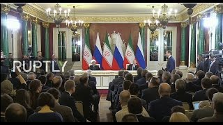 LIVE  Joint press statement by Putin and Rouhani after meeting in Moscow