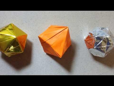 正八面体 折紙 RegularOctaHedron 正十二面体 正二十面体