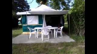 Visite d'un bungalow au Camping de l'Ile de Bidounet à Moissac (82)
