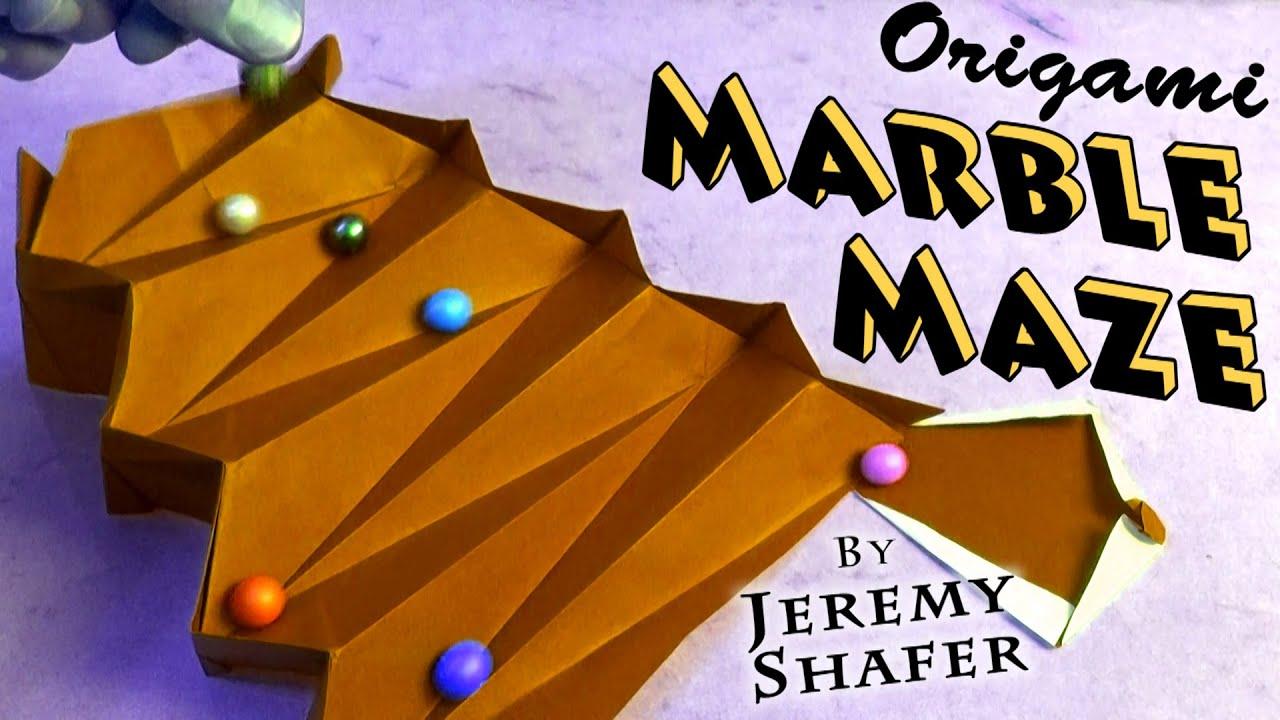 Origami Marble Maze Youtube