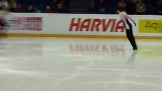 ハンドカメラで撮った羽生結弦選手のフィン杯6分間練習の一部です。