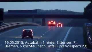 Der nicht erkennbare Stau - Gefährlich: Kuppen und Kurven auf Autobahnen (15.05.2015)