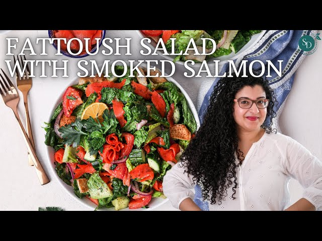Fattoush Salad Recipe With Smoked Salmon | Easy And Healthy Recipes
