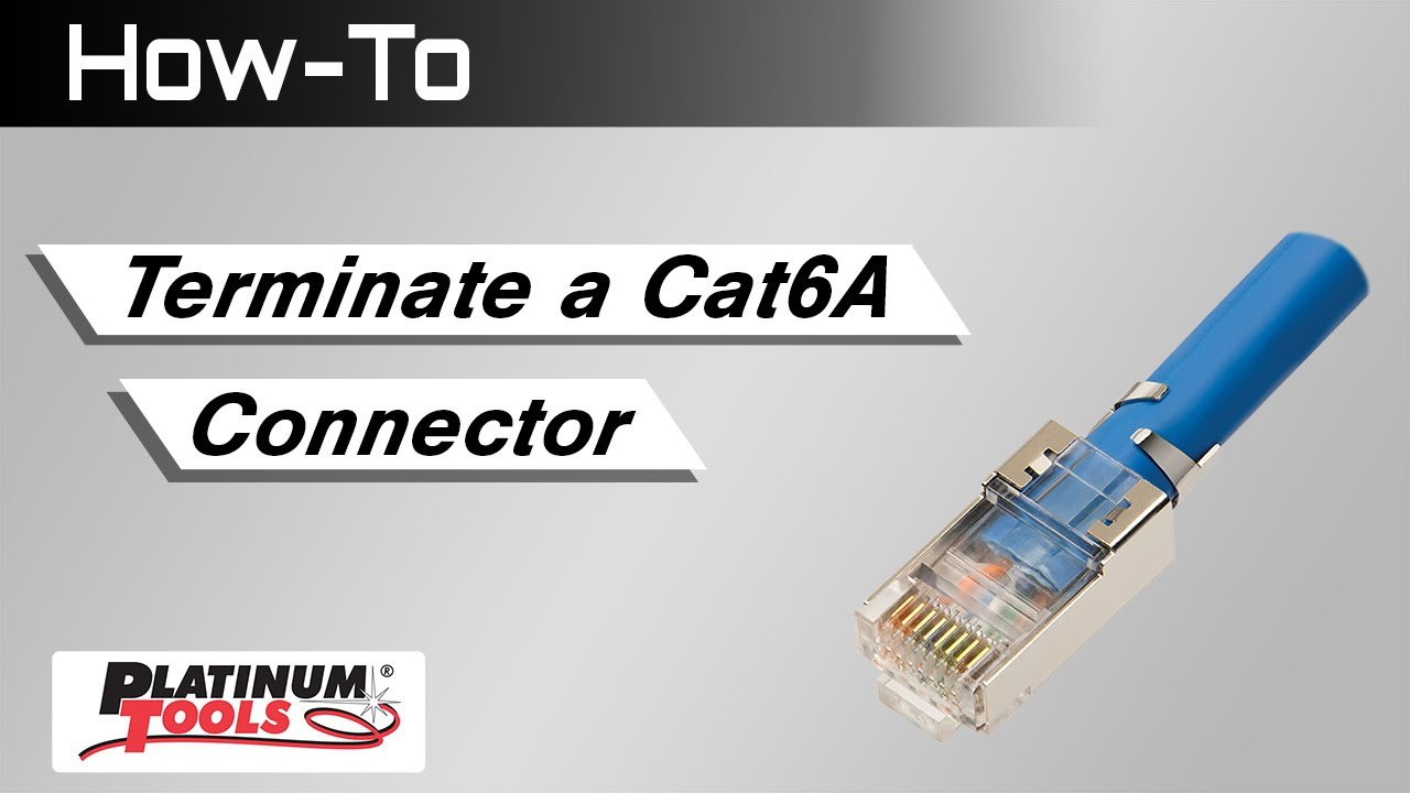 How To Terminate A Cat6a Connector Youtube Cat6 Ethernet Wiring