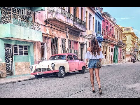 Travel video: Cuba, Havana | Old cars, cabrio ride