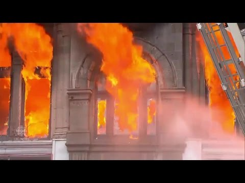 Montreal heritage building goes up in flames