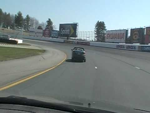 Inside New Hampshire Motor Speedway.