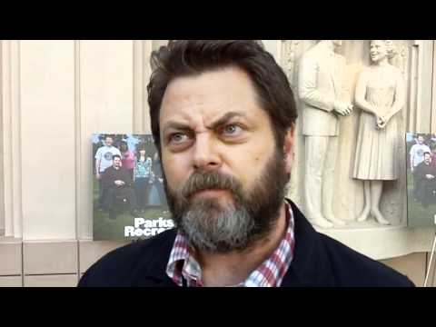 nick offerman talks parks and rec at the tv academy youtube. Black Bedroom Furniture Sets. Home Design Ideas
