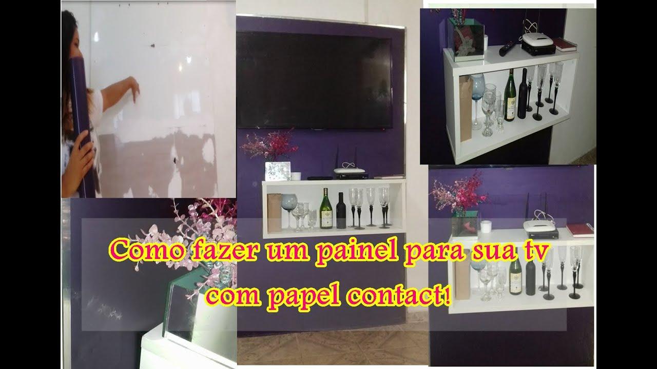 Painel para tv com papel contact youtube - Papel para paredes decorativo ...