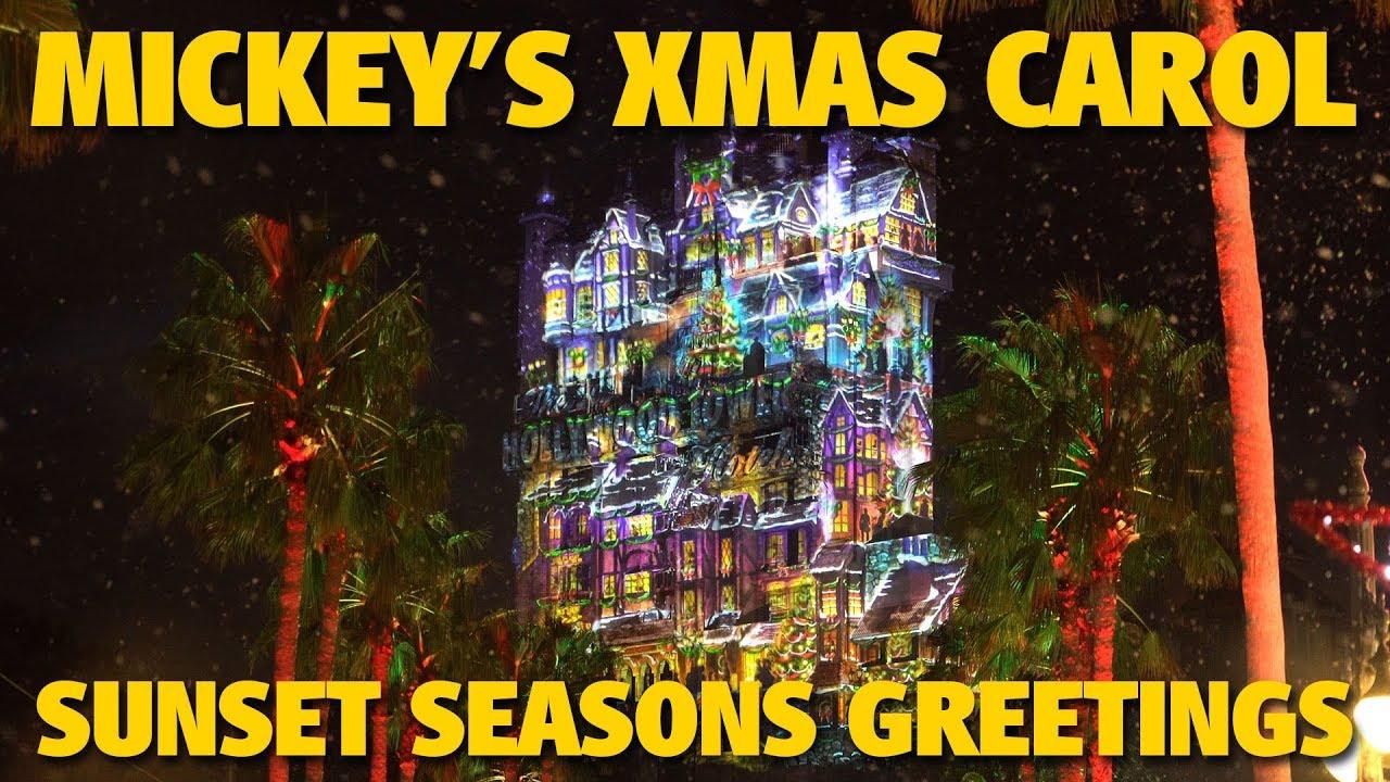 Mickeys Christmas Carol Sunset Seasons Greetings Disneys