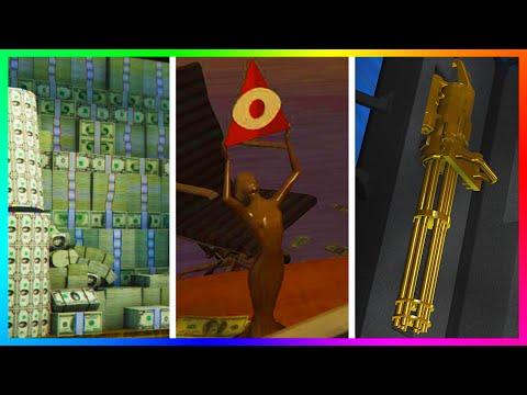 GTA 5 DLC $4,500,000 MONEY MAKING SPREE, RARE GOLDEN CEO STATUE HUNT & RARE GTA ONLINE SPECIAL ITEMS