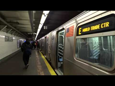 IND 6th Avenue Local: World Trade Center bound R-160A-2 E local train @ 23rd Street!