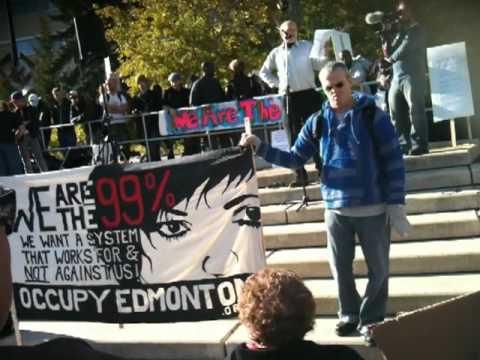 Occupy Edmonton Commencement Rally Oct. 15 2011 - Michael Kalmanovitch's talk