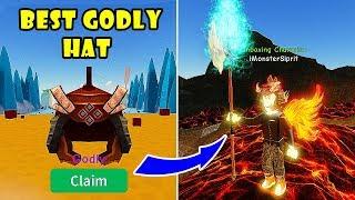 I Got The New Best & Rare GODLY Lava Hats (Fire Shogun) | Unboxing Simulator!! [Roblox]