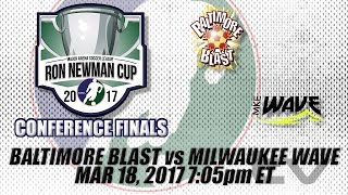 Eastern Conference Finals Game One - Baltimore Blast vs Milwaukee Wave thumbnail