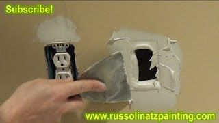 Drywall Repair - How to Fix a Small Hole in the Wall using California Patch (Part 2)