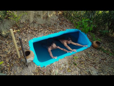 Build The Most Tunnel Temple Swimming Pool Underground