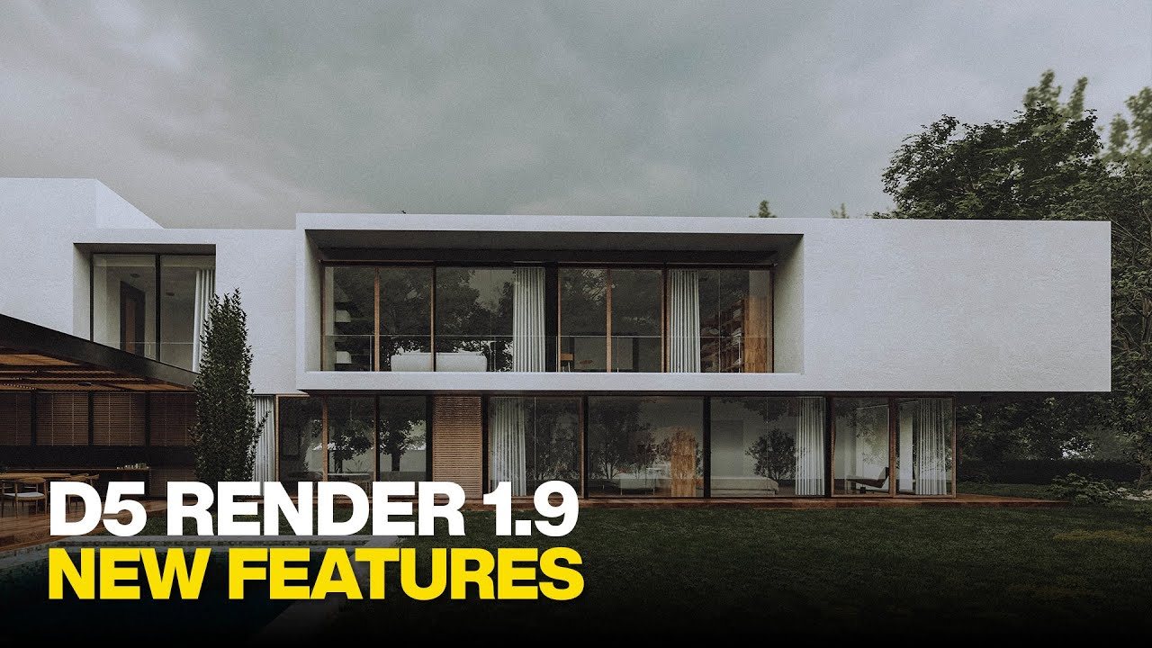 D5 Render 1.9 New Top Features Overview - Real Time RTX Renderer