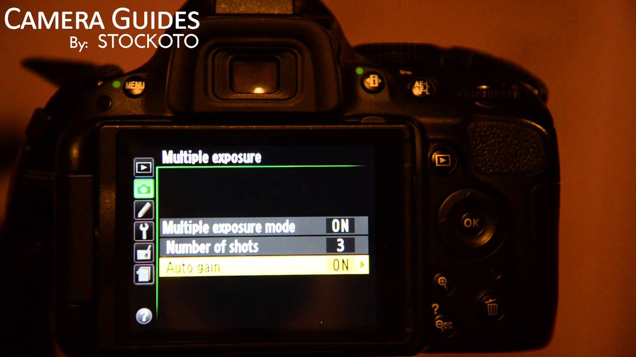 How To Set Multiple Exposure On A Nikon D5100 D5200 D5300 Camera Guides