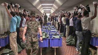 Arriving at Parris Island USMC Boot Camp