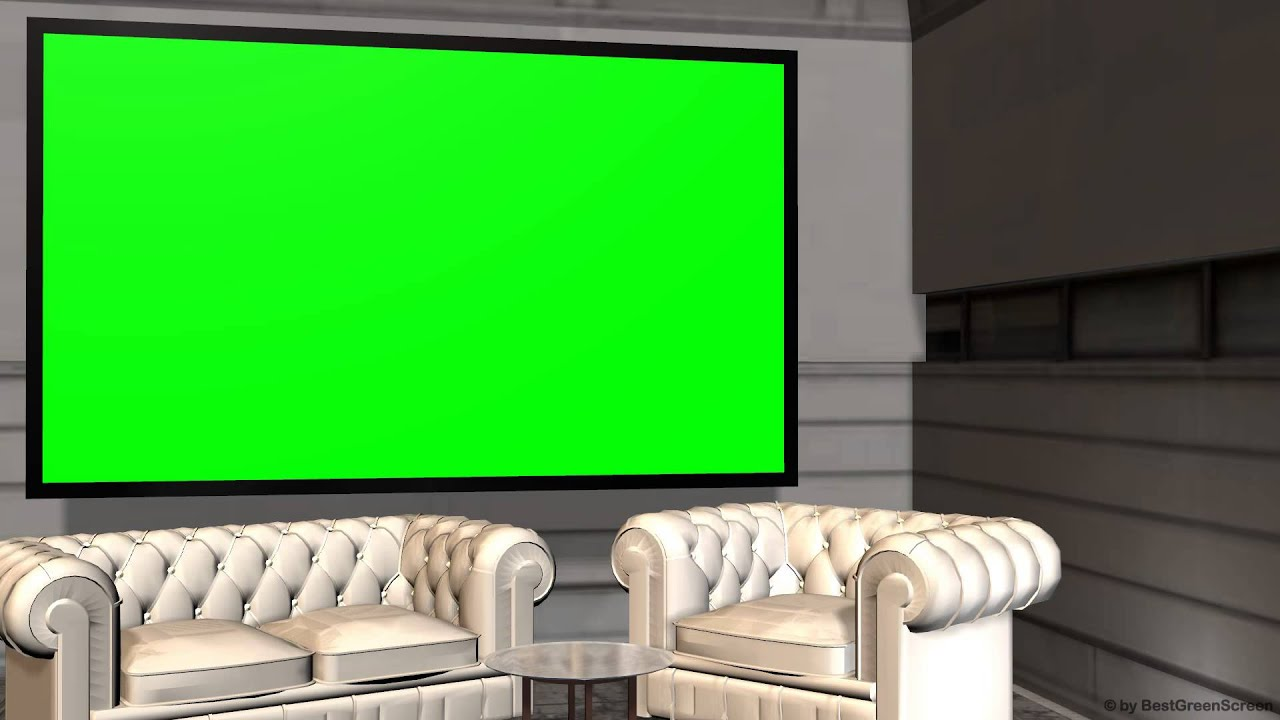 Virtual Studio Background with Green Screen wall - YouTube