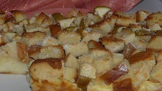 Простой пирог из батона с яблоками на скорую руку