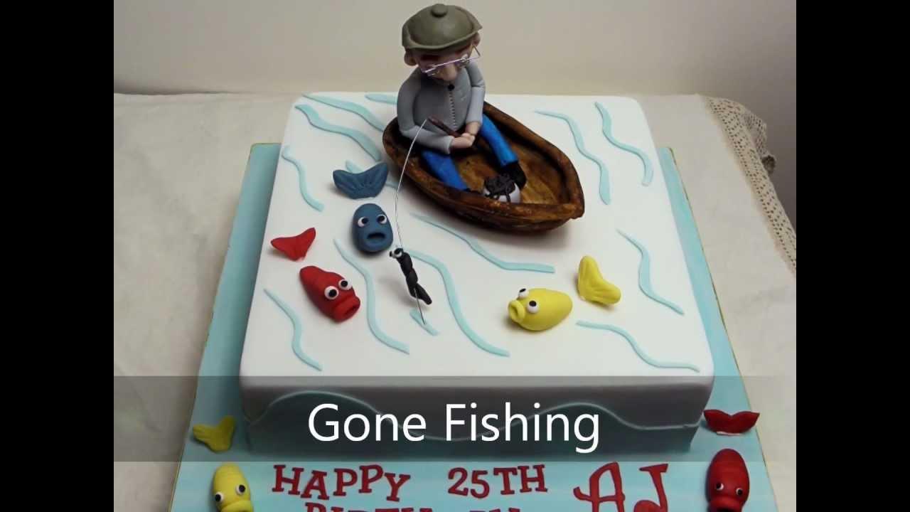 Cake Topper Gone Fishing