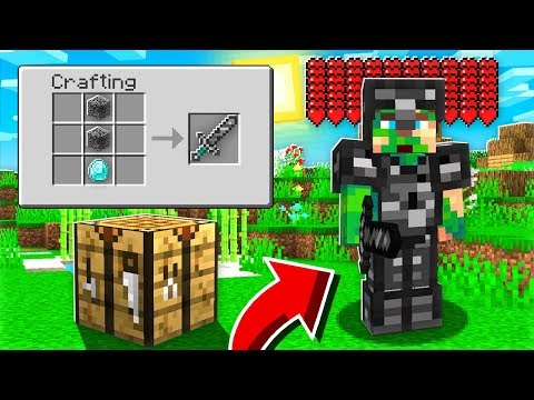 CRAFTING Bedrock ARMOR And WEAPONS!