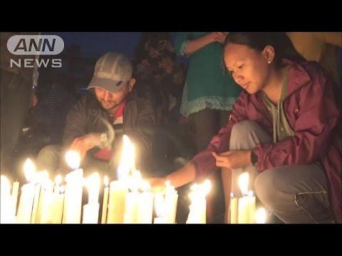 首都で追悼集会 犠牲者7000人超 ネパール大地震(15/05/04)