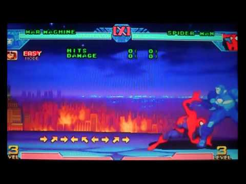 Marvel Vs CapCom Clash Of Super Heroes War Machine Theme And Hyper Move Combo